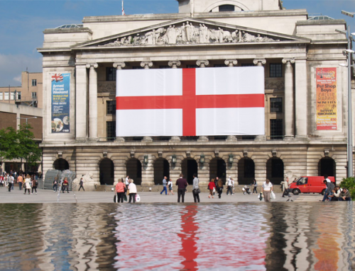 England's Largest St George's Flag